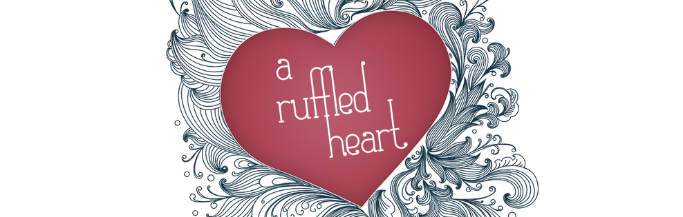 A ruffled heart banner
