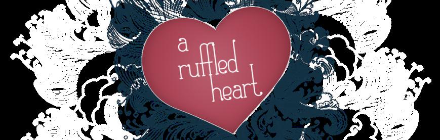 A ruffled heart banner